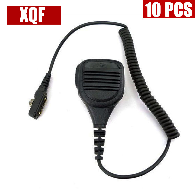 XQF 10PCS Speaker Microphone Mic For Hytera Radio PD700 PD700G PD780 PD780G PT580 PT580H Radio