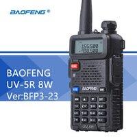 Baofeng UV 5R 8W Walkie Talkie Ver BFP3 23 Dual Band UV 5R PTT CB Radio 128CH VOX Flashlight Portable Ham Radio Comunicador