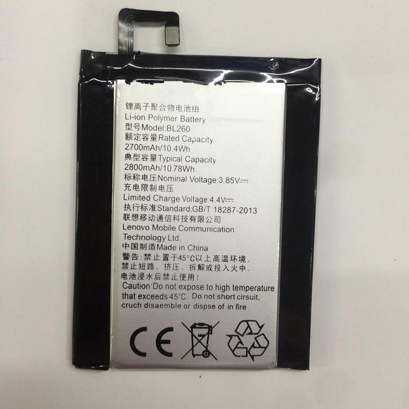 Jinsuli Hohe Qualität Ersatz 2700 mAh Handy-akku BL260 lenovo vibe s1 lite Batterien Für Lenovo Handy