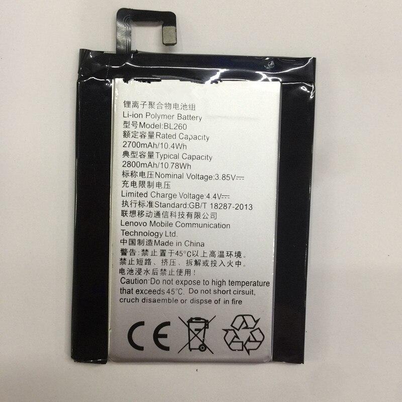 jinsuli High Quality Replacement 2700mAh Phone Battery BL260 lenovo vibe s1 lite Batteries For Lenovo Mobile Phone