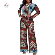 Afrykańskie kobiety kombinezon z nadrukiem seksowne kombinezony damskie kombinezon eleganckie o-neck dashiki spodnie plus rozmiar krótki rękaw 6xl WY4430 tanie tanio BintaRealWax wy3380 Batwing rękawem Zipper fly REGULAR Kostek COTTON Pełnej długości Na co dzień Drukuj Frezowanie