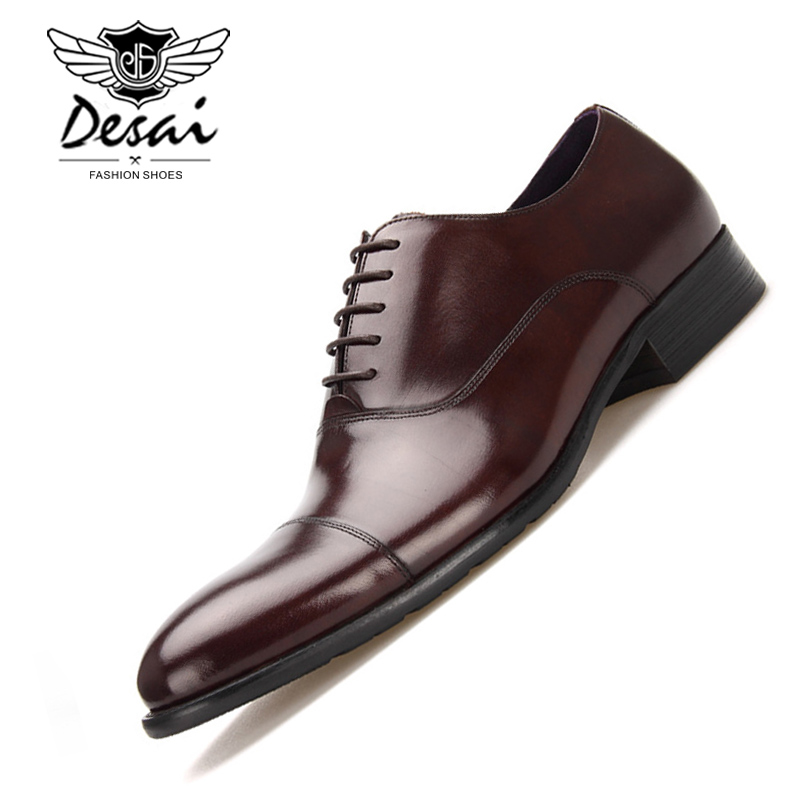 New Arrival Brand Shoes Men Business Dress Genuine Leather Men's Formal Shoes British Style Cow Leather Shoes for Man free shipping dhl brand new cow leather clothing man s 100% genuine leather jackets classics men s slim japan style jacket