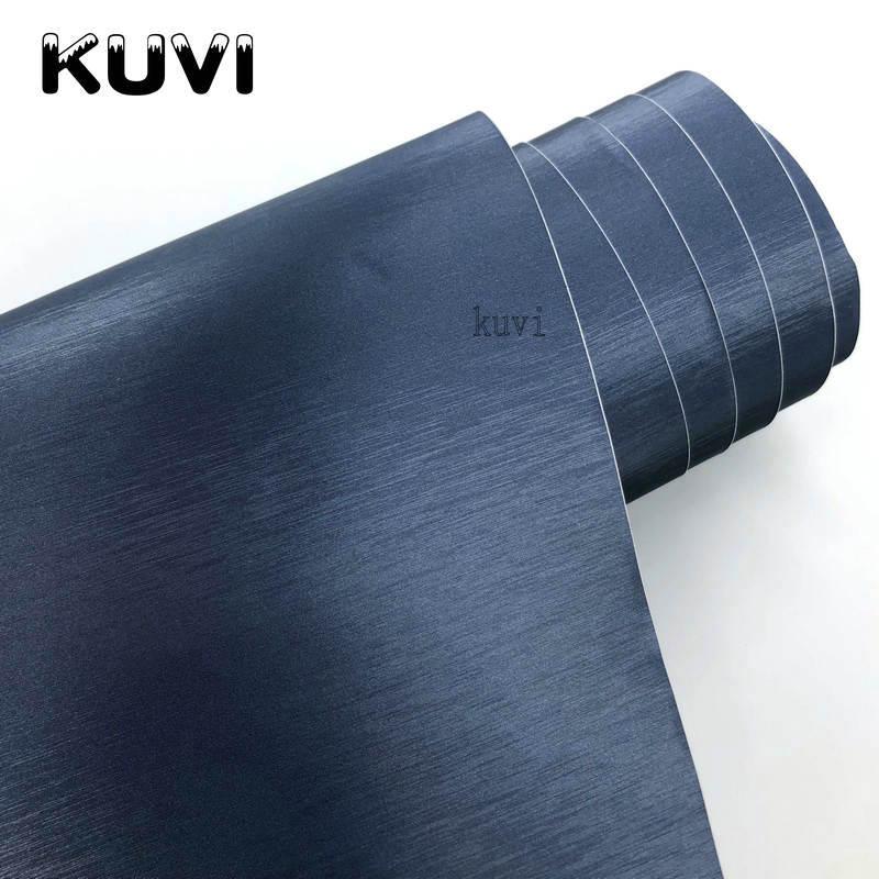 Drain d'air Bleu Brossé En Aluminium Vinyle Film Métallique brossé De Voiture de Vinyle Autocollant Avec Taille: 1.52x28 m