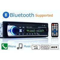 Автомобильный радиоприемник с Bluetooth стерео радио FM Aux Вход приемник SD USB JSD-520 12 V в тире 1 Дин MP3 мультимедиа автомобильный радиоприемник проиг...