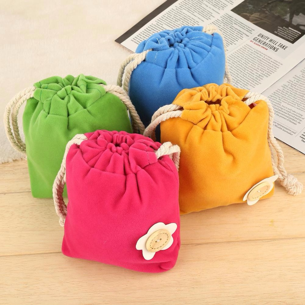 4 Colors 2018 Lovely Baby Toys Diaper Bags Cute Flower Portable Baby Kids Playing Toys Pouch Bag With Drawstring Toys Tote Bag