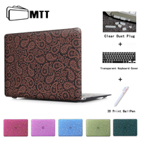 Paisley Blue Cover Laptop Computer Bag For Apple Mac Macbook Pro 15 For Macbook 12 Inch