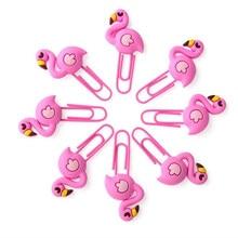 Novo criativo bonito flamingo unicórnio metal memo, clipes de papel conjunto índice marcador para livros escritório escola material de papelaria