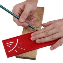 3D Ruler Aluminum Cross-out Alloy Precision Woodworking Scribe Mark Line Gauge T-type Carpenter Measurement Measuring Tool