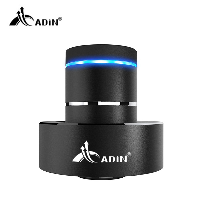ADIN Mini Metal Vibration Bluetooth Speaker NFC Touch HIFI Subwoofer Wireless Speaker 360 Stereo Super Bass Sound Loudspeaker 20w portable wooden high power bluetooth speaker dancing loudspeaker wireless stereo super bass boombox radio receiver subwoofer