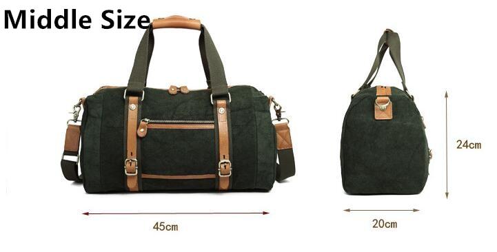 2017 New Barrel Unisex Green Gym Bag Retro Style Traveling Sports Shoulder Bag Solid Color Middle Size Bag High Quality