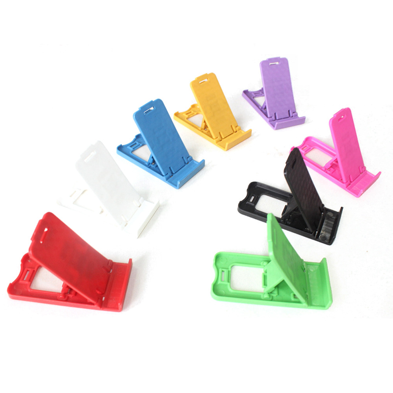 Universal Colorful PT Plastic Adjustable Folding Smart Phone Holder Seat Phone Holder Cellphone Stand Universal Phone Holder