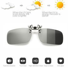 Photochromic Polarised Clip On Flip Sunglasses UV400 Polariz
