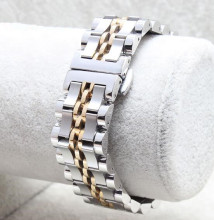 Men Watch Accessories Silver Stainless Steel Watch Band 20mm Strap Belt Bracelet Curved End