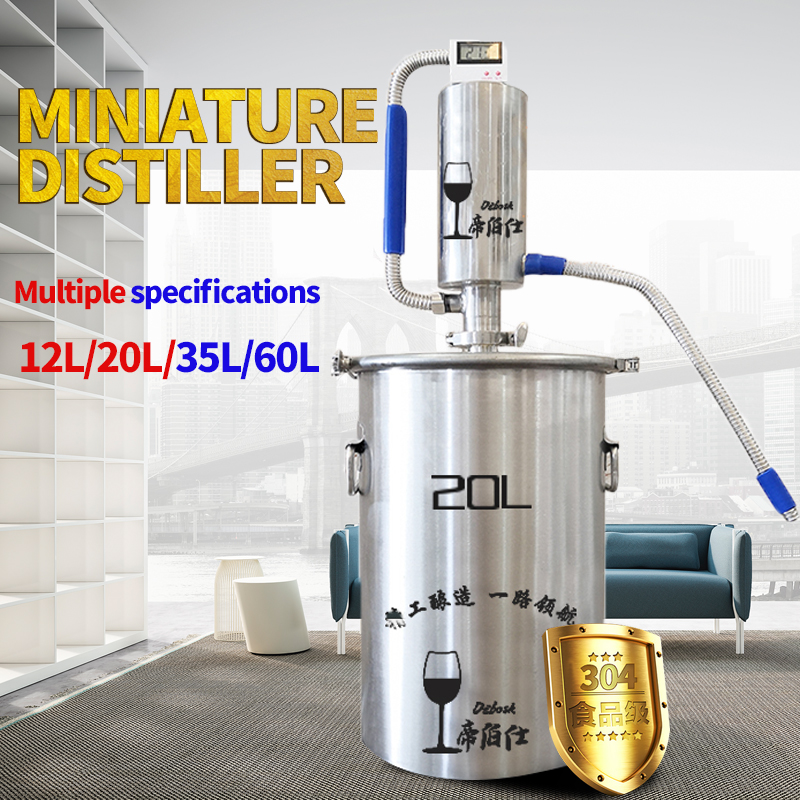 20L Moonshine Distiller Brewing Alcohol Mashine Home Brewing Liquor Brandy Vodka Distiller ,Comprises Brewing Accessories