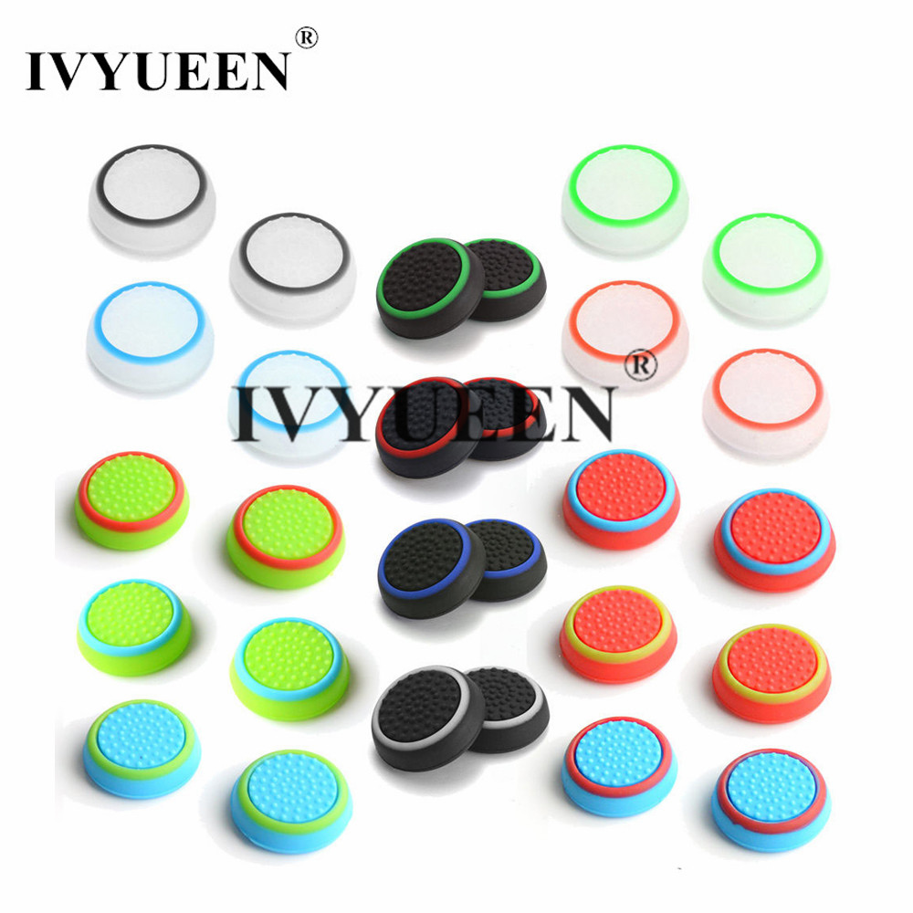 IVYUEEN 4 Pcs Silicone Analog Thumb Stick Grips For Nintend Switch PRO Controller Thumbstick Caps For NS PRO Joystick Cover