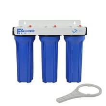 High Flow rate 3 Stage Prefiltration Water Filter ( 10 PP 5micron + GAC filter+10 1micron)