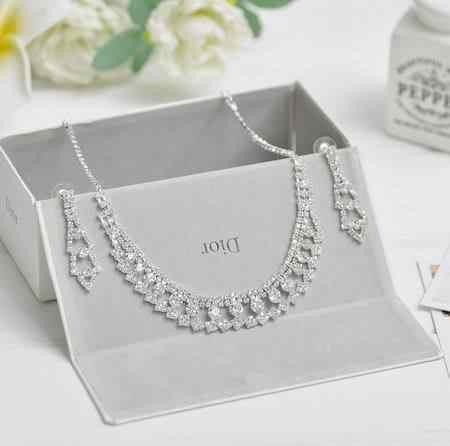 Wlać herbaty bloom ekstrawagancki luksusowy urządzone koreański kobiet łańcuszek do obojczyka naszyjnik biżuteria dla nowożeńców ozdoby