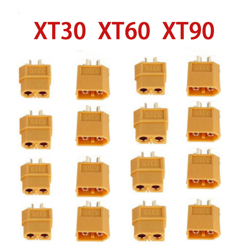 XT30 XT60 XT90 Male Female Bullet Connectors Plug For RC Lipo Battery Wholesale For RC Lipo Battery Quadcopter Multicopter