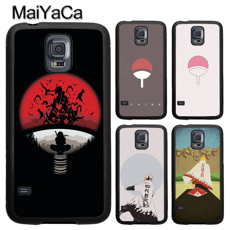 MaiYaCa Anime Naruto Uchiha Clan Logo Soft TPU Phone Case Cover Coque For Samsung S4 S5 S6 S7 edge S8 S9 plus Note 8 5 4 Capa