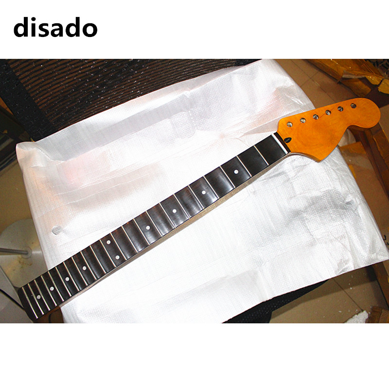 disado 22 Frets big headstock maple Electric Guitar Neck rosewood scallop fretboard inlay dots guitar parts accessories disado 22 frets inlay dots reverse electric guitar neck wholesale guitar parts guitarra musical instruments accessories