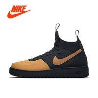 Оригинальные аутентичные NIKE AF1 ULTRAFORCE MID технологичные мужские кроссовки Спорт на открытом воздухе спортивная дышащая дизайнер AH6746