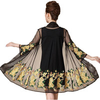 Summer Women Lace Embroidery Two Piece Dress Vintage Mujer Vestidos De Festa Fashion Sexy Clothes Brand