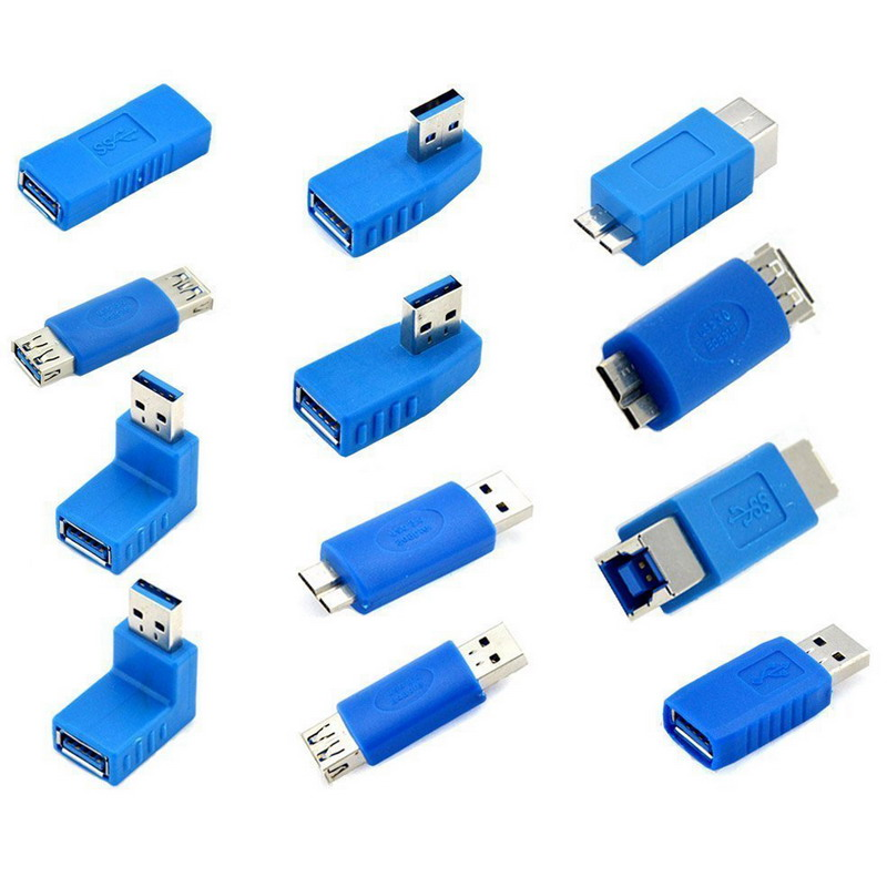 12PCS/Pack USB 3.0 Male Female Adapter Male to Female Plug Connector Adapter Converter For Computer Plug usb to fast ethernet adapter где
