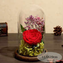 Glass Cover Fresh Preserved Rose Flower Immortal Eternal For Valentines Day Christmas Wedding Birthday