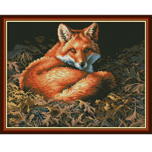 NKF Fox Animal Cross Stitch Kits 11CT 14CT Chinese