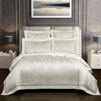 Роскошные 100 S хлопок жаккард queen набор для больших кроватей покрывало из египетского хлопка простыня одеяло покрывало, Комплект постельног