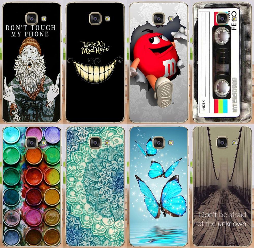 For Samsung Galaxy A3 2016 A310 A3100 A310F Hot Sale Don't Touch My Phone Palette Dreamcatcher Expression PC Print Case Cover