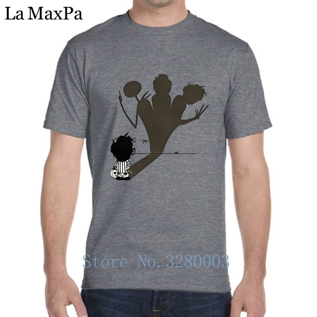 Custom T Shirt Family ALP Customized Casual T Shirt For Mens Halloween Tim Burton Jack Sally  Nightmare Men's T-Shirt