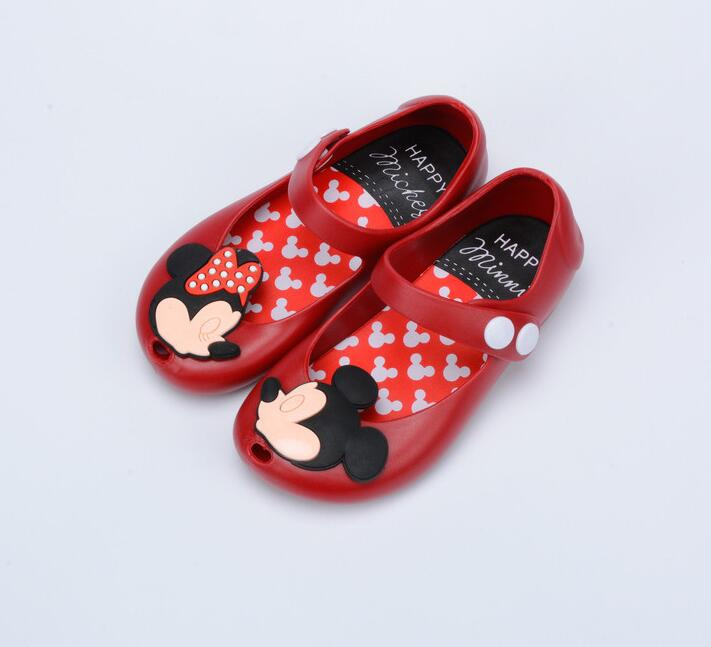 Kids Girls Sandals Crystal Jelly Shoes Sandals Infants Minnie Mickey Children Cute Baby Girl Sandals 13-17cm