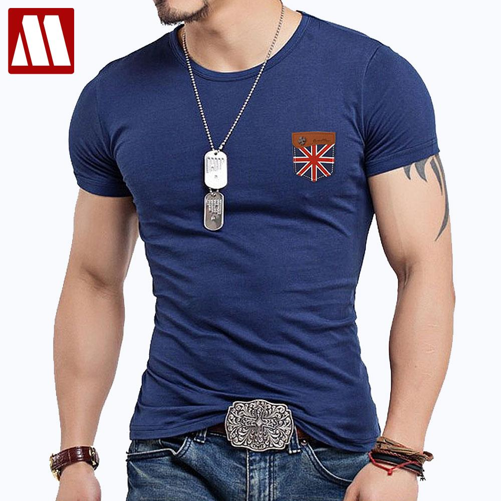Fitness false pocket t shirt men designer clothes cross Fitness shirts for men
