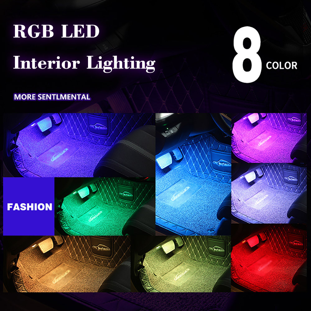Image 3 - 4pcs Car RGB LED Strip Light LED Strip Lights Colors Car Styling Decorative Atmosphere Lamps Car Interior Light With Remote-in Decorative Lamp from Automobiles & Motorcycles
