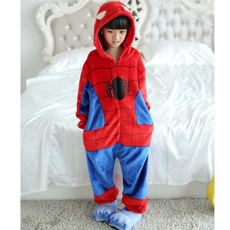 все цены на Spiderman Blanket Overalls Jumpsuit Pijama Infantil Kids Children Animal Cosplay Kigurumi Onesie Blanket Sleepers Pajamas Zipper