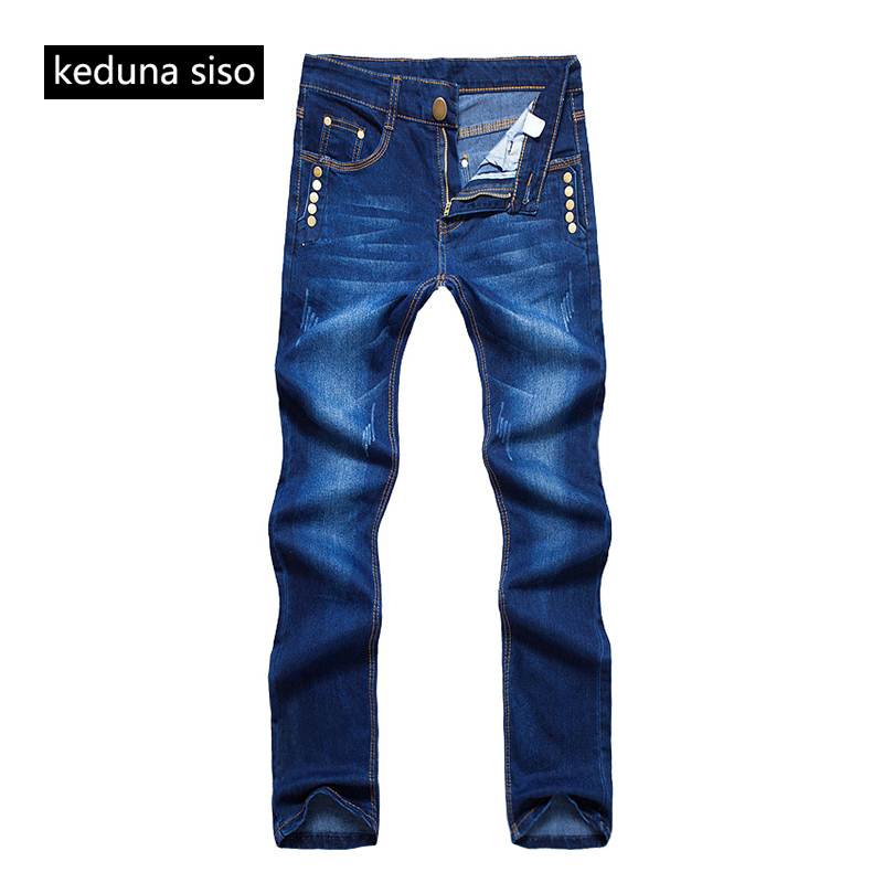 buy 2017 new arrival men jeans homme pants casual fashion classical denim jeans. Black Bedroom Furniture Sets. Home Design Ideas