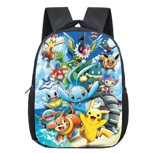 c4ca1f48ed70 Anime Pokemon Backpack Pocket Monster School Bag Ash Ketchum Pikachu School  Backpacks Girls Boys Daily Bag Kids Book Bags-in School Bags from Luggage    Bags ...