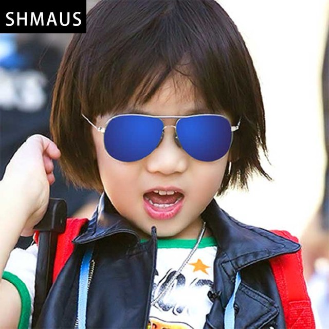 3ba0b2ca8842 Shamus Brand Sunglass With Bag CR-39 UV400 High Quality Glasses Kids  Sunglasses Children Metal Sun Glasses Colorful Eyewear 2017