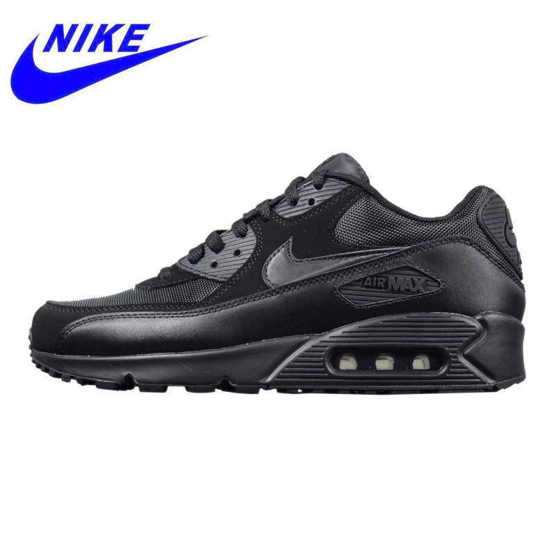 low priced 6777f c2ed7 NIKE AIR MAX 90 ESSENTIAL, Outdoor Sneakers Shoes,Black, Men s Running Shoes  Breathable Wear-resistant Non-slip 537384 090