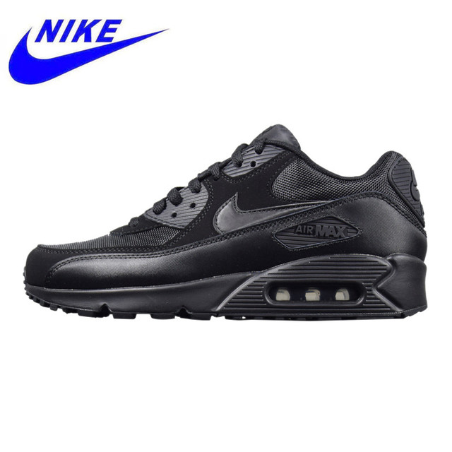 watch 198cf 9e7e1 NIKE AIR MAX 90 ESSENTIAL, Outdoor Sneakers Shoes,Black, Men s Running Shoes  Breathable
