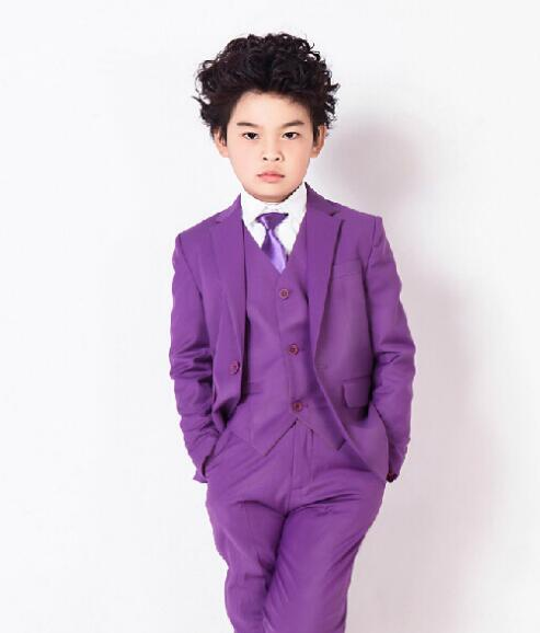Kids Wedding Tuxedos Boys Custom Made Smoking Casamento Evening Tuxedo Suit Boy clothing (Coat+Pants+Vest+Tie+Shirt) 5 Pieces578Kids Wedding Tuxedos Boys Custom Made Smoking Casamento Evening Tuxedo Suit Boy clothing (Coat+Pants+Vest+Tie+Shirt) 5 Pieces578