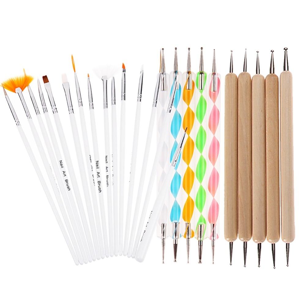 Hot Sale 20 pcs/set Nail Art Design Painting Dotting Pen Brushes ...