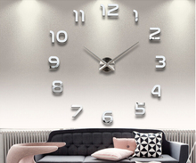 Hot sale 3D DIY clock watch wall clocks acrylic mirror Stickers Home Decoration Living Room Quartz Needle