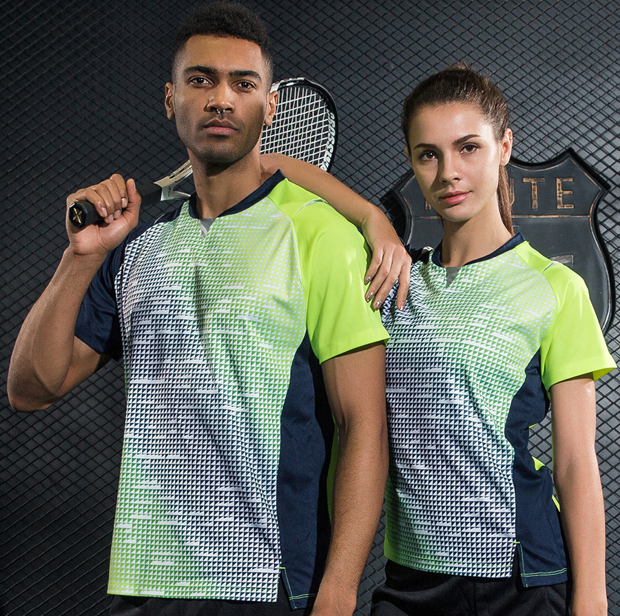 2018 Sportswear Quick Dry Breathable Badminton Shirt , Women / Men Table Tennis Shirt Clothes Team Game Short Sleeve T Shirts