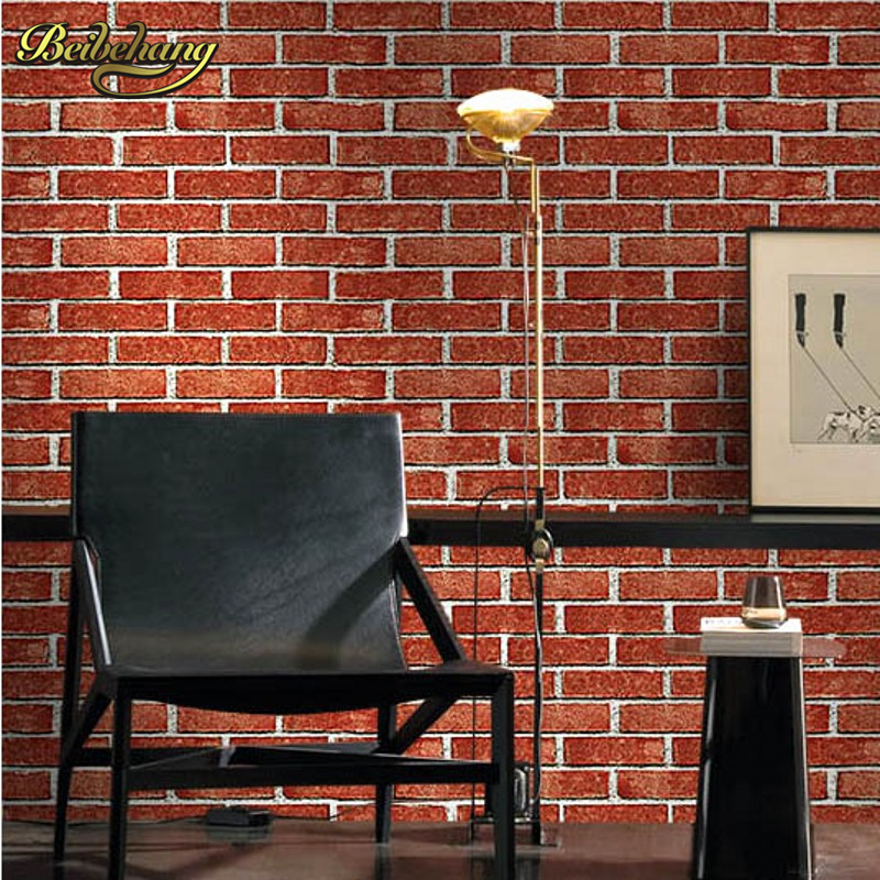 beibehang papel de parede. PVC grey 3d brick wallpaper for walls nature 3d wall paper red brick wallpaper roll pvc vinyl thickening white brick wallpaper for walls rustic tv background brick wall paper rolls papel de parede r211
