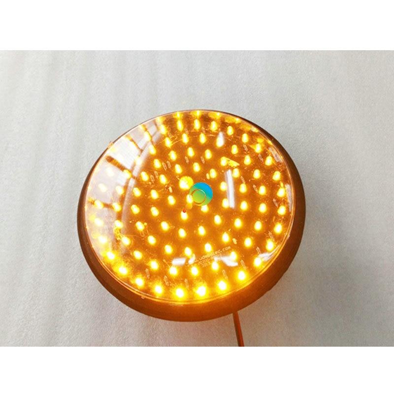 DC24V High Brightness Epistar LED 200mm LED Traffic Signal Light Yellow Traffic Signal Module For Sale