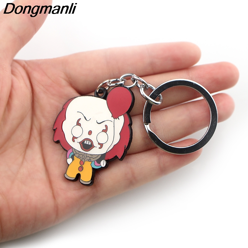 P3879 Dongmanli Stephen King 39 s It Key Holder Cute Enamel Metal Pendant Car Keychain For Key Rings Gifts in Key Chains from Jewelry amp Accessories