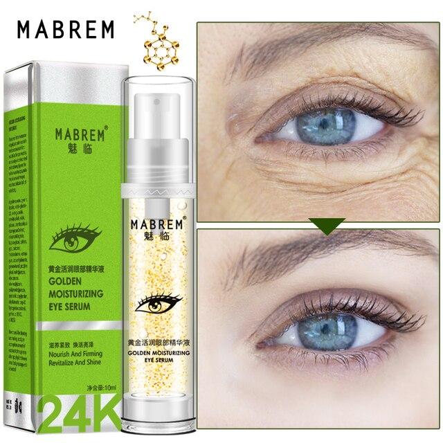 24k Golden Moisturizing Eye Serum Day Cream Collagen Day Creams & Moisturizers