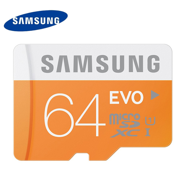 Samsung Memory Card 64GB EVO Micro sd card Class10 UHS-1 Flash Card Memory Cards Microsd for Tablet Smartphone free shipping